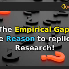 The Empirical Gap: The Reason to Replicate Research